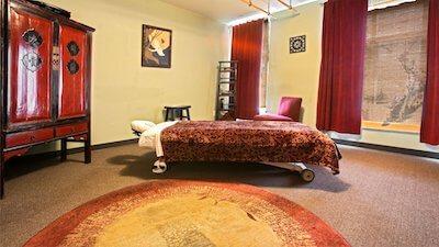Zen massage room